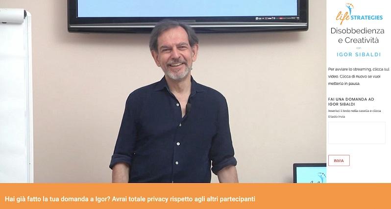 Igor Sibaldi seminario Disobbedienza e Creatività