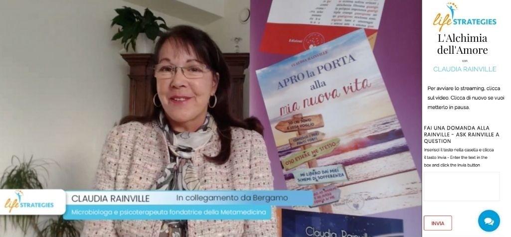 Diretta Streaming con Claudia Rainville